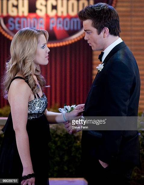 LIVE Kristen Alderson and Brandon Buddy in a scene that airs the week of May 10 2010 on ABC Daytime's 'One Life to Live' 'One Life to Live' airs...