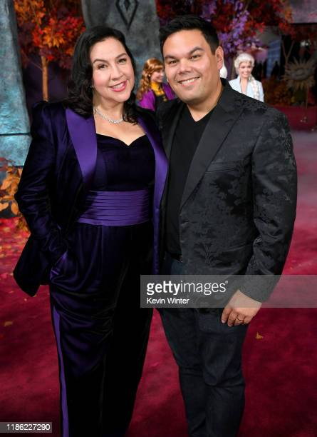Kristen AndersonLopez and Robert Lopez attend the premiere of Disney's Frozen 2 at Dolby Theatre on November 07 2019 in Hollywood California