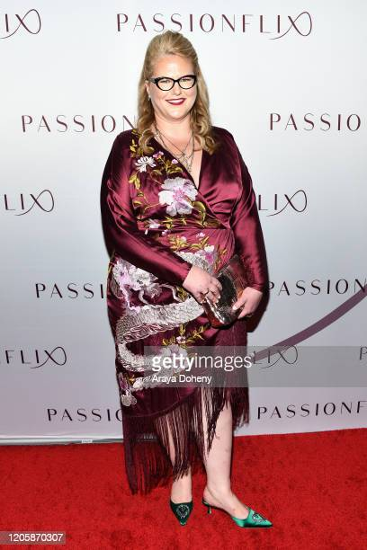 Kristen Ashley attends Passionflix's The Will Los Angeles Premiere on February 12 2020 in Culver City California