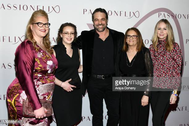 Kristen Ashley Chris L McKenna Megan Dodds and guests attend Passionflix's The Will Los Angeles Premiere on February 12 2020 in Culver City California