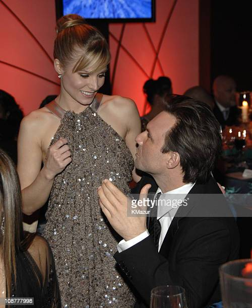 Kristen Bell and Christian Slater during In Style and Warner Bros. 2007 Golden Globe After Party - Inside at Beverly Hilton Hotel in Beverly Hills,...