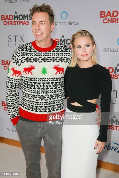 Kristen Bell and Dax Shepard attend the premiere of STX Entertainment's 'A Bad Moms Christmas' on October 30 2017 in Los Angeles California