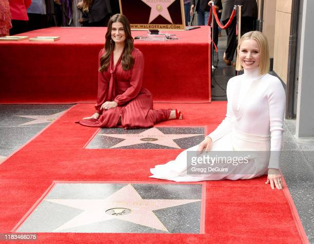 Kristen Bell And Idina Menzel Are Honored With Stars On The Hollywood Walk Of Fame on November 19 2019 in Hollywood California