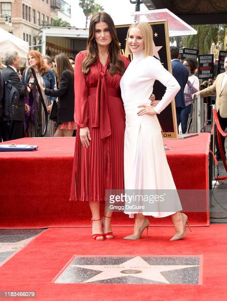 Kristen Bell And Idina Menzel Are Honored With Stars On The Hollywood Walk Of Fame on November 19, 2019 in Hollywood, California.