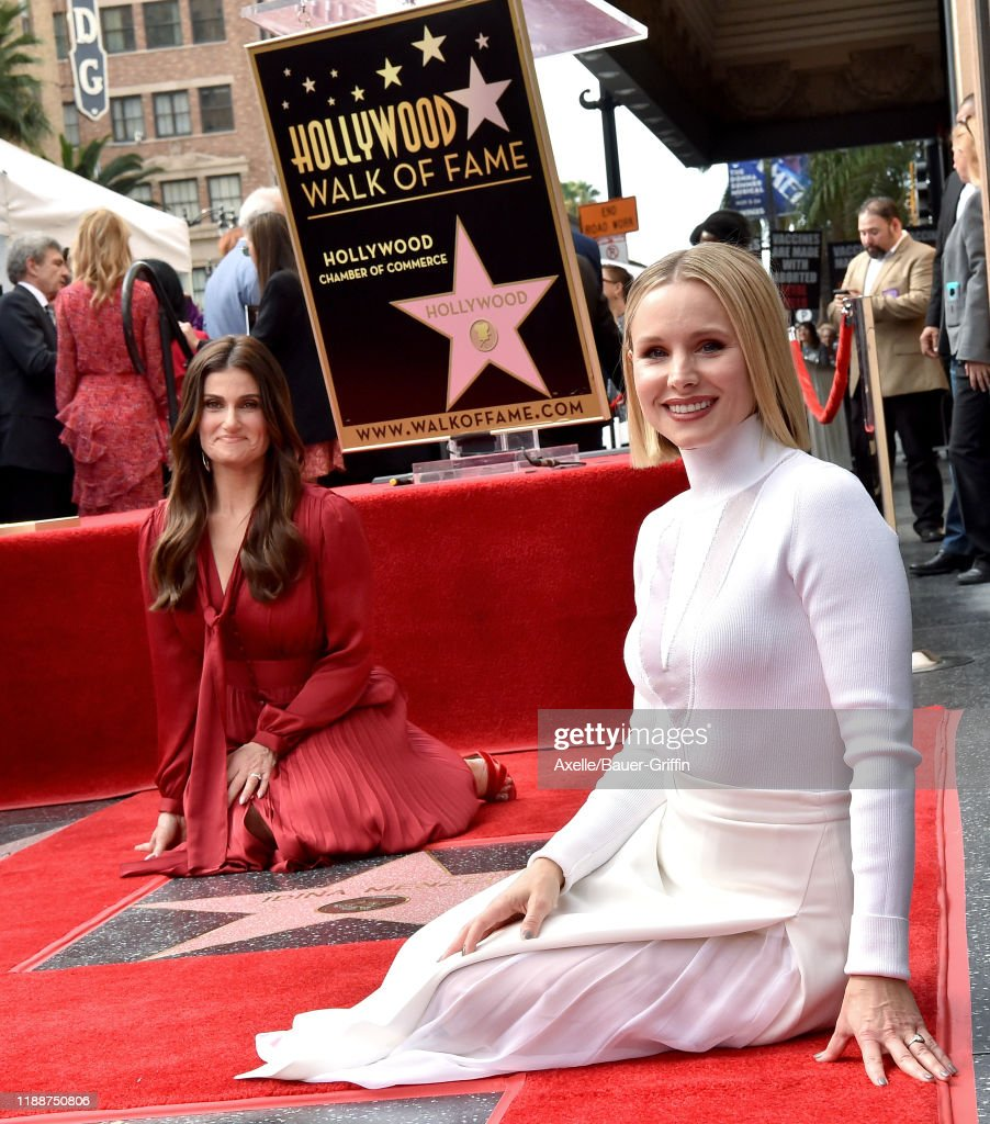 Kristen Bell And Idina Menzel Are Honored With Stars On The Hollywood Walk Of Fame : News Photo