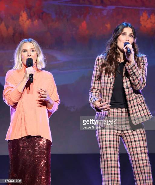 Kristen Bell and Idina Menzel of 'Frozen 2' took part today in the Walt Disney Studios presentation at Disney's D23 EXPO 2019 in Anaheim Calif...