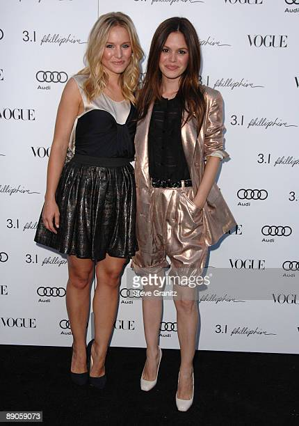 Kristen Bell and Rachel Bilson arrives at the Vogue's 1 Year Anniversary Party For 3.1 Phillip Lim's LA Store on July 15, 2009 in West Hollywood,...