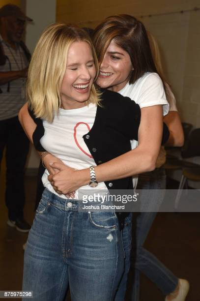 Kristen Bell and Selma Blair attend the Alliance of Moms Raising Baby presented by CuddleBright on November 18 2017 in Los Angeles California