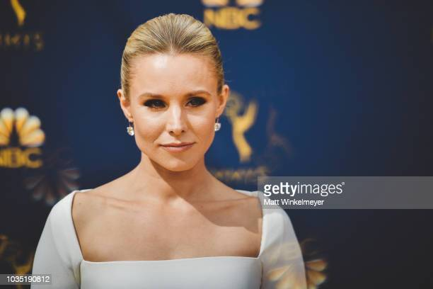 Kristen Bell arrives at the 70th Emmy Awards on September 17, 2018 in Los Angeles, California.