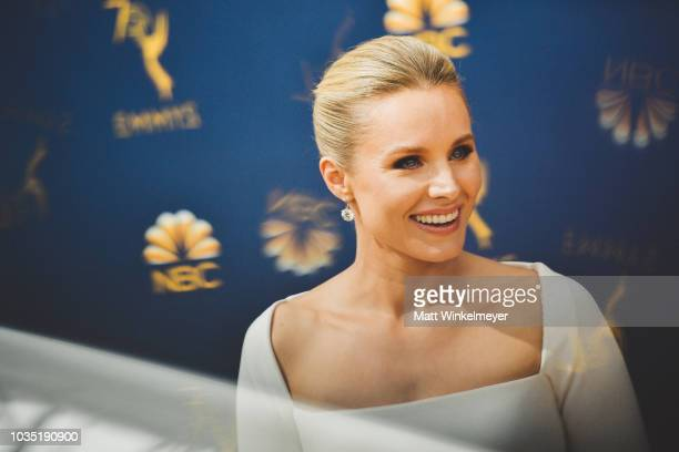 Kristen Bell arrives at the 70th Emmy Awards on September 17 2018 in Los Angeles California