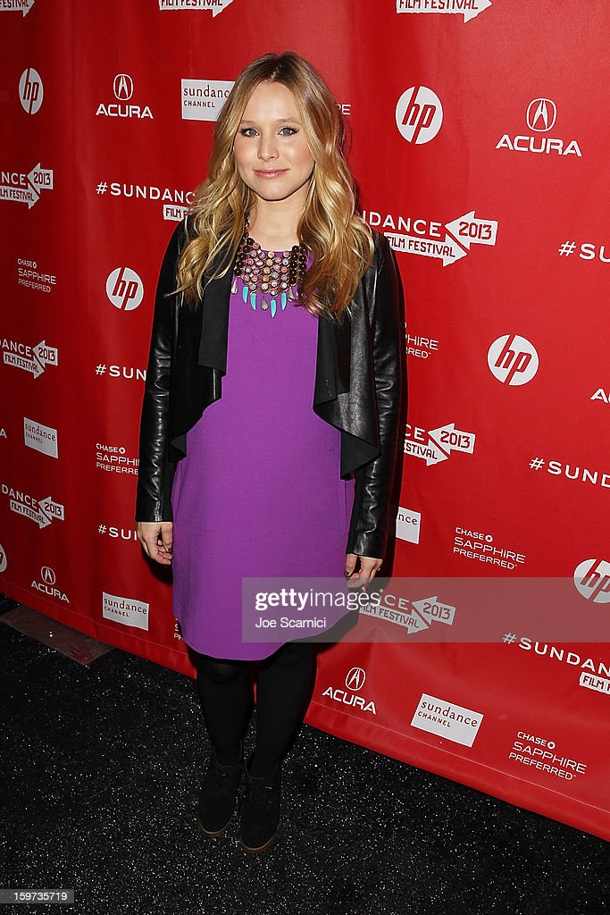 Kristen Bell arrives at 'The Lifeguard' Premiere - 2013 Sundance Film Festival at Library Center Theater on January 19, 2013 in Park City, Utah.
