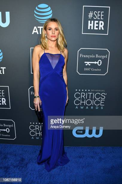 Kristen Bell at Claire Foy Accepts The #SeeHer Award At The 24th Annual Critics' Choice Awards The Barker Hanger on January 13 2019 in Santa Monica...