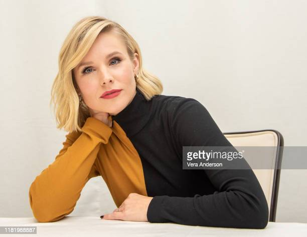 "Kristen Bell at ""The Good Place"" Press Conference at the Four Seasons Hotel on October 16, 2019 in Beverly Hills, California."