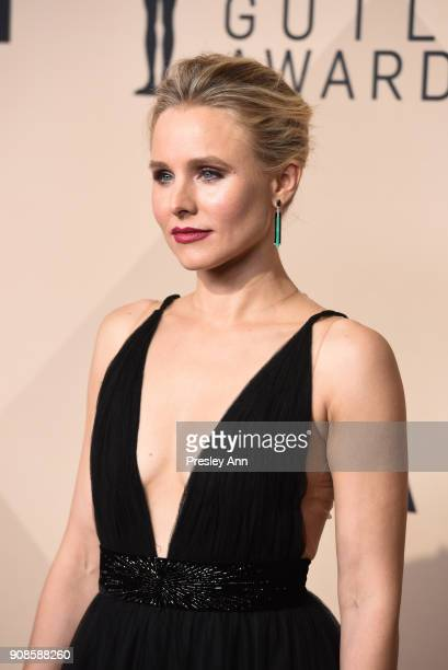 Kristen Bell attends 24th Annual Screen Actors Guild Awards - Press Room on January 21, 2018 in Los Angeles, California.