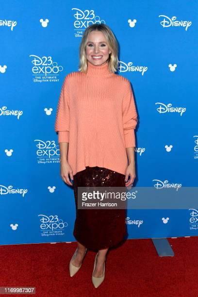 Kristen Bell attends Go Behind The Scenes with Walt Disney Studios during D23 Expo 2019 at Anaheim Convention Center on August 24 2019 in Anaheim...