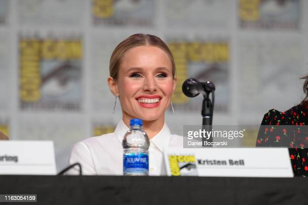 Kristen Bell attends Hulu's Veronica Mars revival panel and world premiere during 2019 ComicCon International at San Diego Convention Center on July...