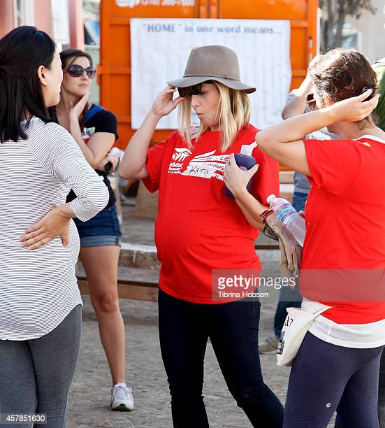 Kristen Bell attends Showtime's 'Shameless' 'House Of Lies' help build homes with Habitat for Humanity LA charity event on October 25 2014 in Lynwood...