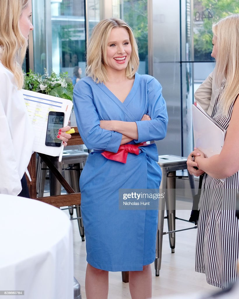 Kristen Bell attends the 2017 #DrinkGoodDoGood Campaign Launch at Little River on August 9, 2017 in New York City.