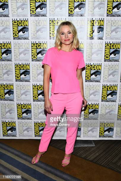 "Kristen Bell attends the 2019 Comic-Con International - ""The Good Place"" Photo Call at Hilton Bayfront on July 20, 2019 in San Diego, California."