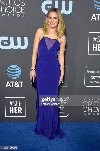 Kristen Bell attends the 24th annual Critics' Choice Awards at Barker Hangar on January 13 2019 in Santa Monica California
