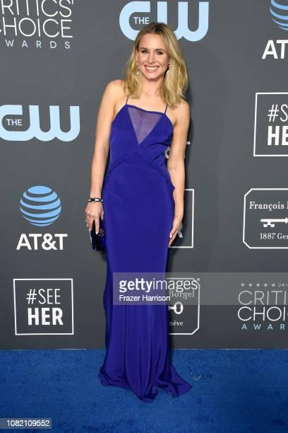 Kristen Bell attends the 24th annual Critics' Choice Awards at Barker Hangar on January 13 2019 in Santa Monica California