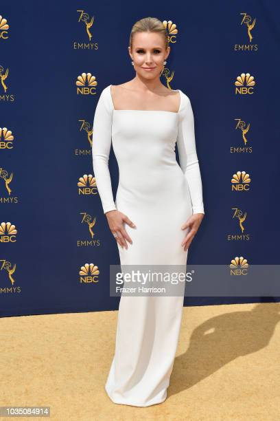 Kristen Bell attends the 70th Emmy Awards at Microsoft Theater on September 17 2018 in Los Angeles California