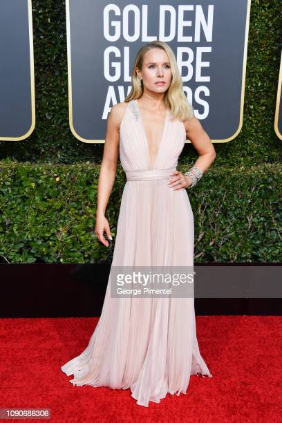 Kristen Bell attends the 76th Annual Golden Globe Awards held at The Beverly Hilton Hotel on January 06, 2019 in Beverly Hills, California.