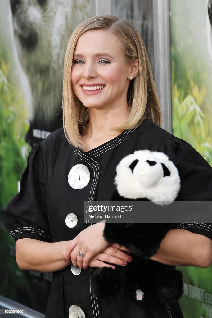 Kristen Bell attends the premiere of Warner Bros. Pictures and IMAX Entertainment's 'Pandas' at TCL Chinese Theatre IMAX on March 17, 2018 in Hollywood, California.