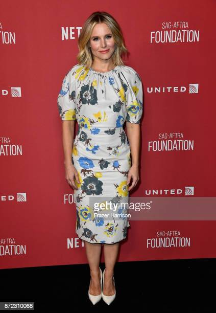 Kristen Bell attends the SAGAFTRA Foundation Patron of the Artists Awards 2017 at the Wallis Annenberg Center for the Performing Arts on November 9...