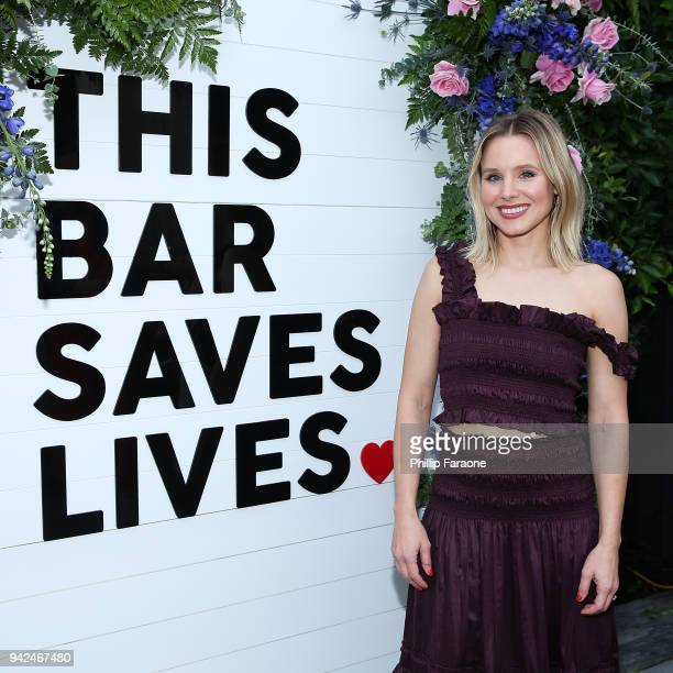 Kristen Bell attends This Bar Saves Lives Press Launch Party at Ysabel on April 5 2018 in West Hollywood California