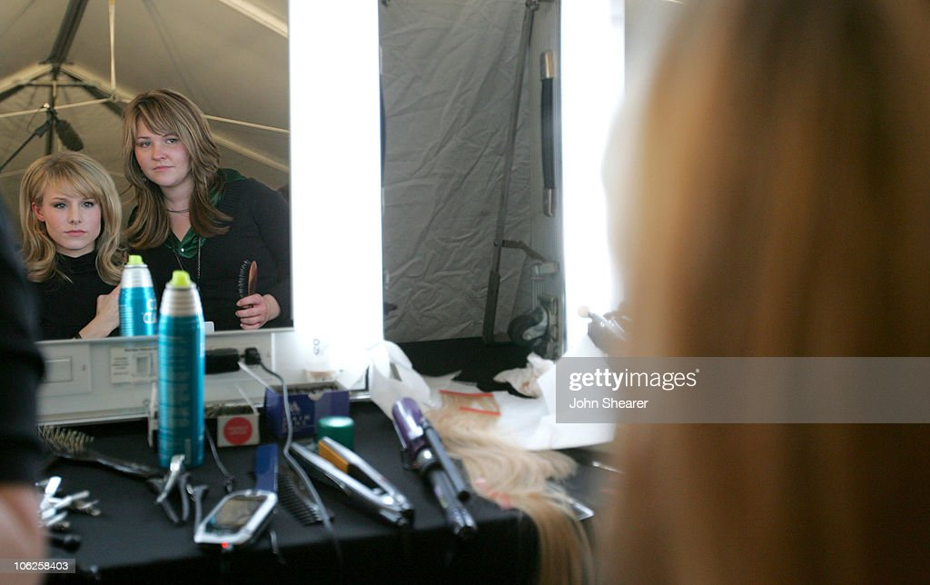 Kristen Bell during 2007 GM Style - Backstage at GM Pavilion in Detroit, Michigan, United States.