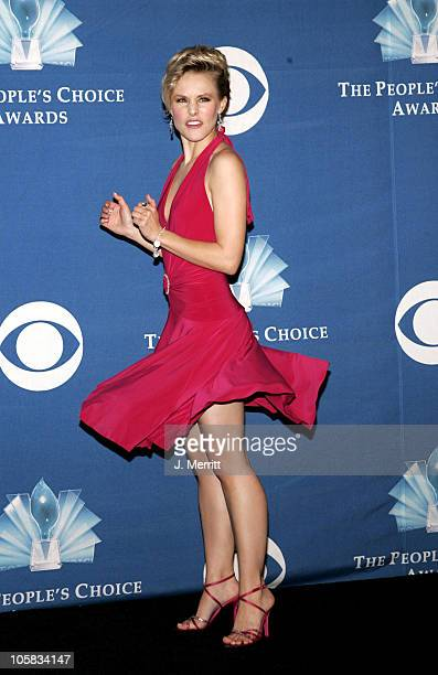 Kristen Bell during 31st Annual People's Choice Awards Pressroom at Pasadena Civic Auditorium in Pasadena California United States