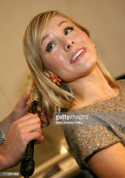 Kristen Bell during Olympus Fashion Week Spring 2007 Lela Rose Front Row and Backstage at The Atelier at Bryant Park in New York New York United...