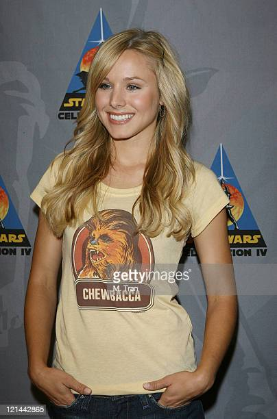 """Kristen Bell during """"Star Wars"""" Celebration IV - Day 4 at Los Angeles Convention Center in Los Angeles, California, United States."""