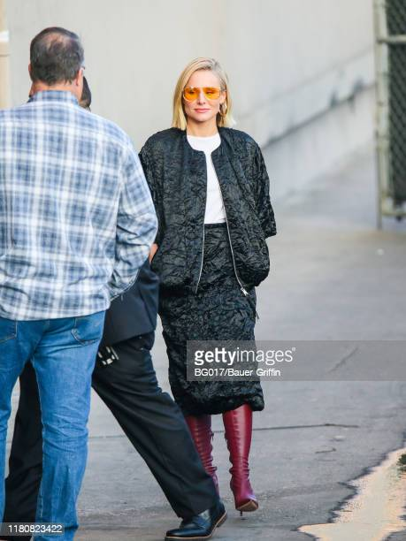 Kristen Bell is seen arriving at the 'Jimmy Kimmel Live' on November 07 2019 in Los Angeles California