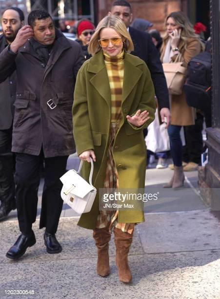 Kristen Bell is seen on February 21, 2020 in New York City.