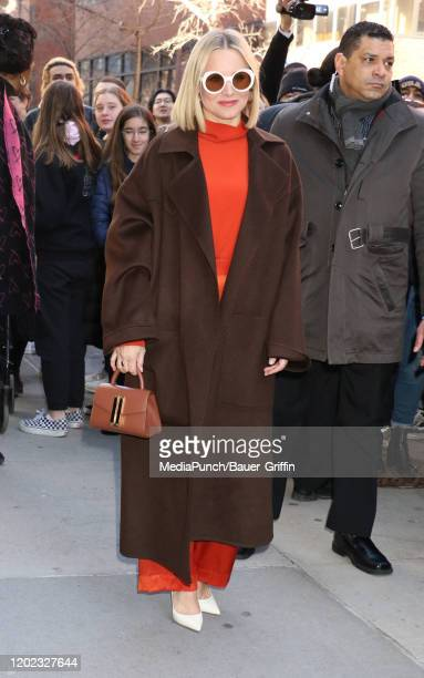 Kristen Bell is seen outside the Build Studio on February 21, 2020 in New York City.