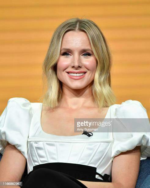 Kristen Bell of 'The Good Place' speaks during the NBC segment of the 2019 Summer TCA Press Tour at The Beverly Hilton Hotel on August 08 2019 in...