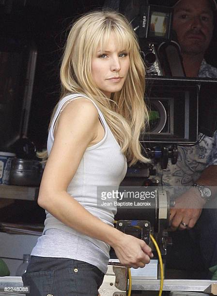 Kristen Bell on location for Heroes on August 8 2008 in Los Angeles California