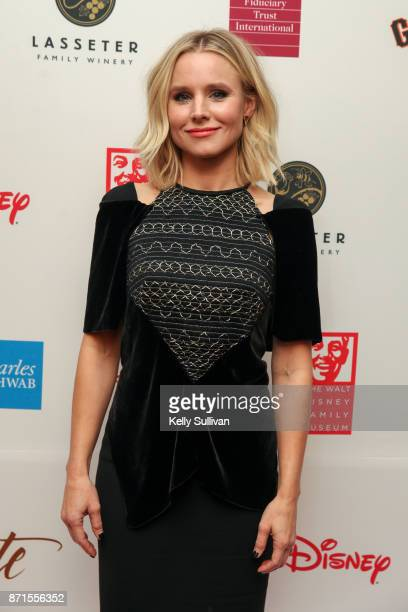 Kristen Bell poses for photos on the red carpet during The Walt Disney Family Museum's 3rd Annual Fundraising Gala at the Golden Gate Club on...