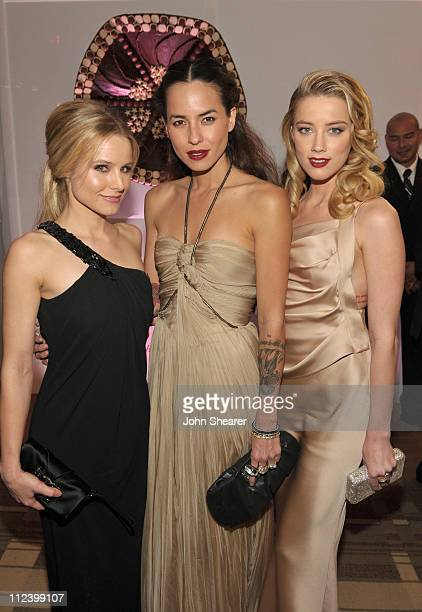 Kristen Bell, Tasya van Ree and Amber Heard attend the InStyle and Warner Bros. 68th annual Golden Globe awards post-party at The Beverly Hilton...