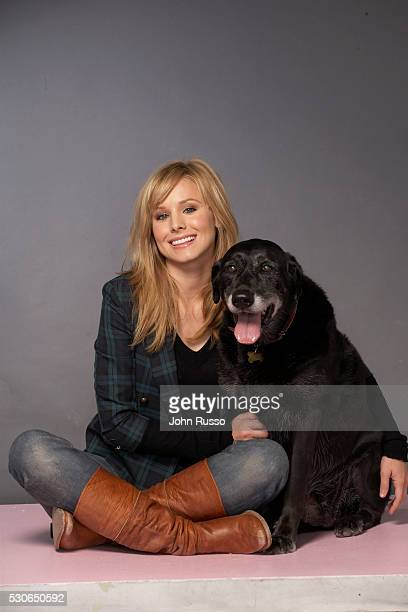 Kristen Bell with her dog Sadie