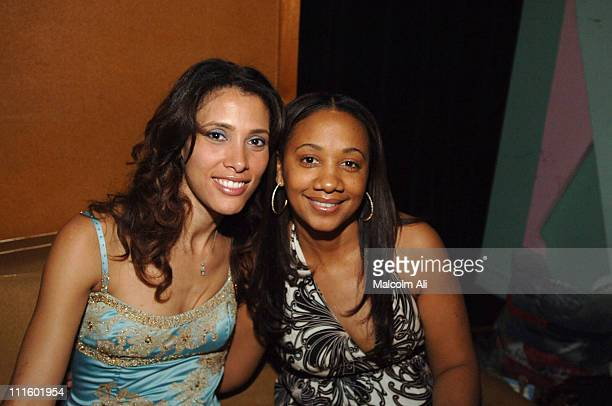 Kristen Bellamy and La Donna Hughley during Bill Bellamy Surprise 40th Birthday Party at Monroe's in West Hollywood California United States
