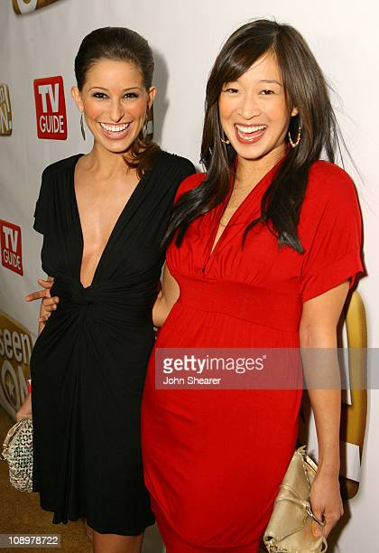 Kristen Brockman and Camille Chen during The SeenONcom Launch Party Red Carpet at Boulevard3 in Los Angeles California United States