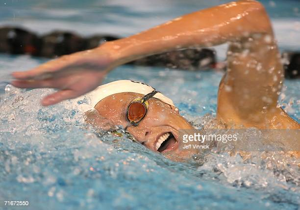 Kristen Caverly of the US swims during her heat in the Women's 400m Individual Medley at the Pan Pacific Swimming Championships August 18 2006 in...