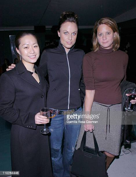 Kristen Chang, Amanda Beard and Anne DiGiovanna during W Magazine Celebrates the Launch of the 2006 Speedo Ad Campaign at Gansevoort Hotel in New...