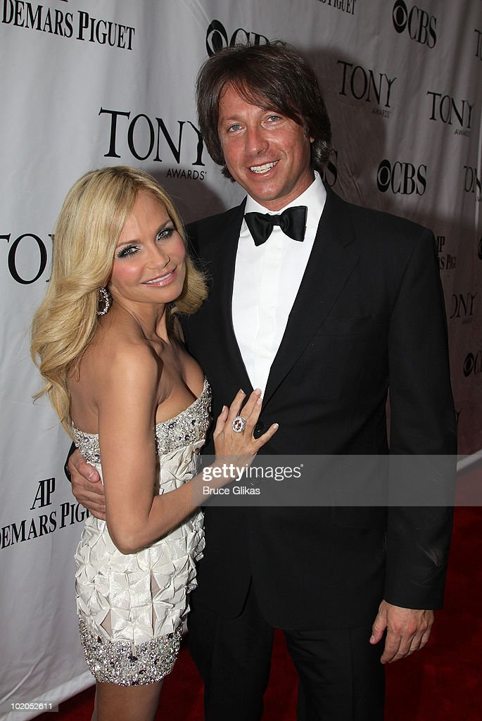 Kristen Chenoweth and guest attend the 64th Annual Tony Awards at Radio City Music Hall on June 13, 2010 in New York City.