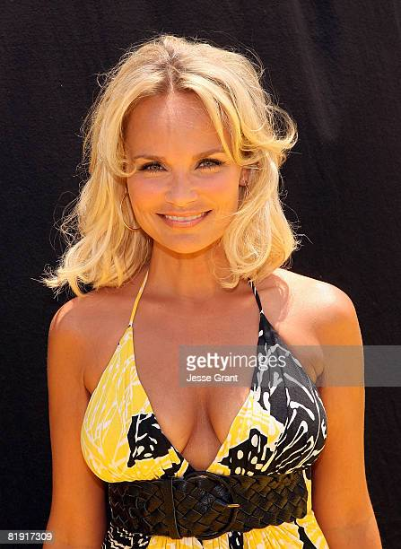 """Kristen Chenoweth arrives on the red carpet at the premiere of 20th Century Fox's """"Space Chimps"""" at the Fox Studio Lot on July 12, 2008 in Los..."""