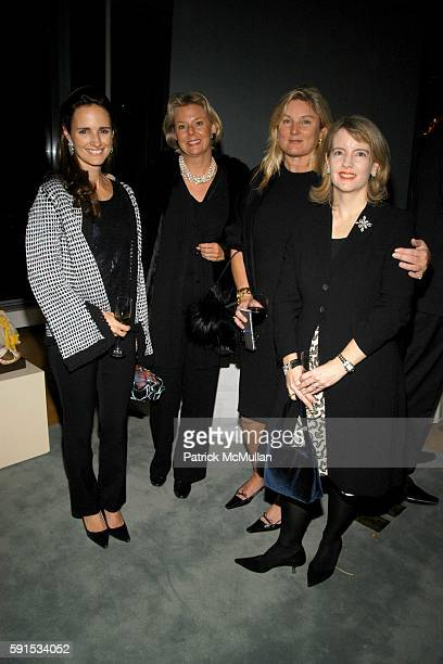 Kristen Clark Grace Brown Courtney Arnot and Serena Lese attend JeanMarc Loubier President CEO of CELINE hosts cocktails to honor the Associates...