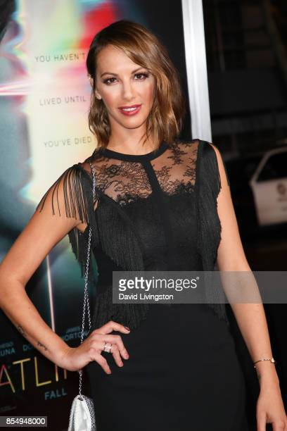 Kristen Doute attends the premiere of Columbia Pictures' 'Flatliners' at The Theatre at Ace Hotel on September 27 2017 in Los Angeles California